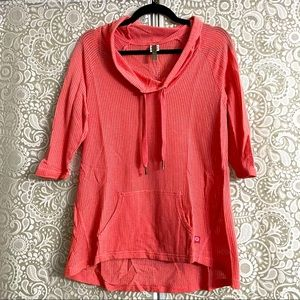 XCVI Coral Waffle Knit Sweater Cover Up Sz Large